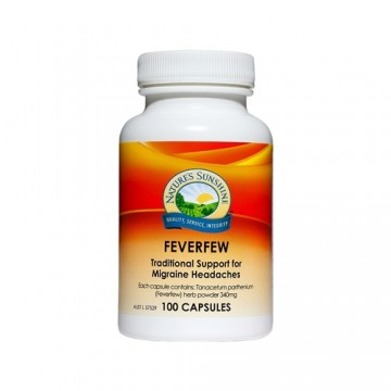 Nature's Sunshine Feverfew - 100 capsules