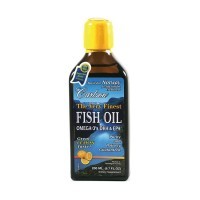 Carlson Fish Oil Omega 3's DHA & EPA Lemon Flavour - 200 mls