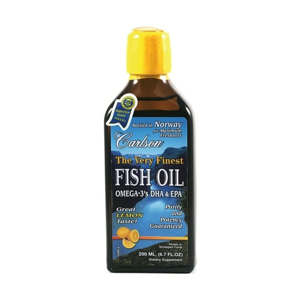 Fish oil omega 3 39 s dha epa lemon flavour carlson for Epa dha fish oil