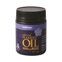 Melrose Organic Flaxseed Oil 1000mg - 100 vegecaps