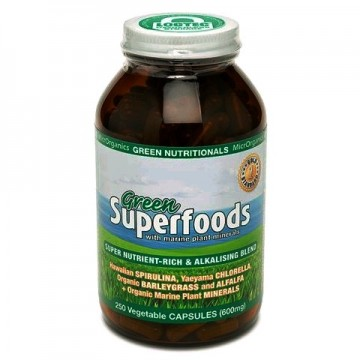 MicrOrganics Green Nutritionals Green Superfoods 600mg - 250 capsules