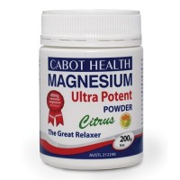 Cabot Health Magnesium Ultra Potent Powder Citrus - 465 grams