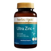 Herbs Of Gold Ultra Zinc Plus - 60 Tablets