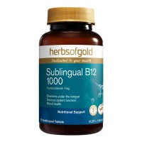 Herbs of Gold Sublingual B12 1000 - 75 tablets