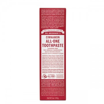 Dr Bronner's Cinnamon All-One Toothpaste - 140 grams