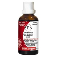 Zen Herbal Liniment Joint & Muscle Relief Dropper - 50mls