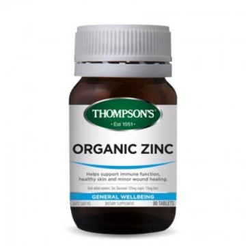 Thompson's Organic Zinc - 80 Tablets
