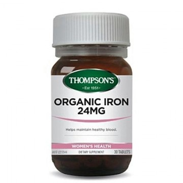 Thompson's Organic Iron 24mg - 30 Tablets