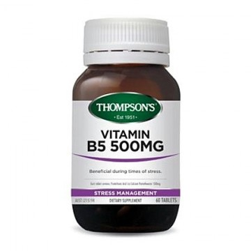 Thompson's Vitamin B5 500mg - 60 Tablets