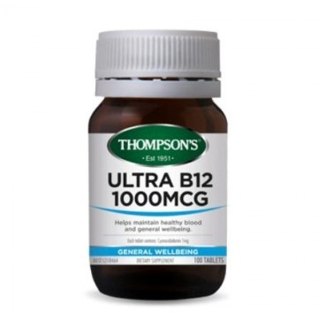 Thompson's Ultra B12 1000mcg - 100 Tablets