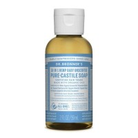 Dr Bronner's Pure Castile Liquid Soap - Baby Unscented - 59 mls