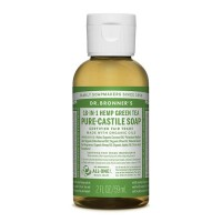 Dr Bronner's Pure Castile Liquid Soap - Green Tea - 59 mls