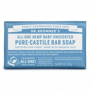Dr Bronner's Pure Castile Bar Soap - Baby Unscented